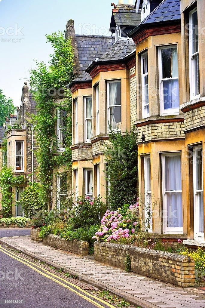 Quaint English houses stock photo