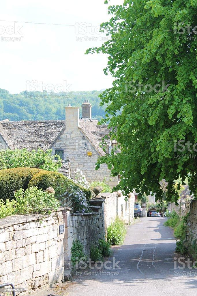 Quaint English village stock photo