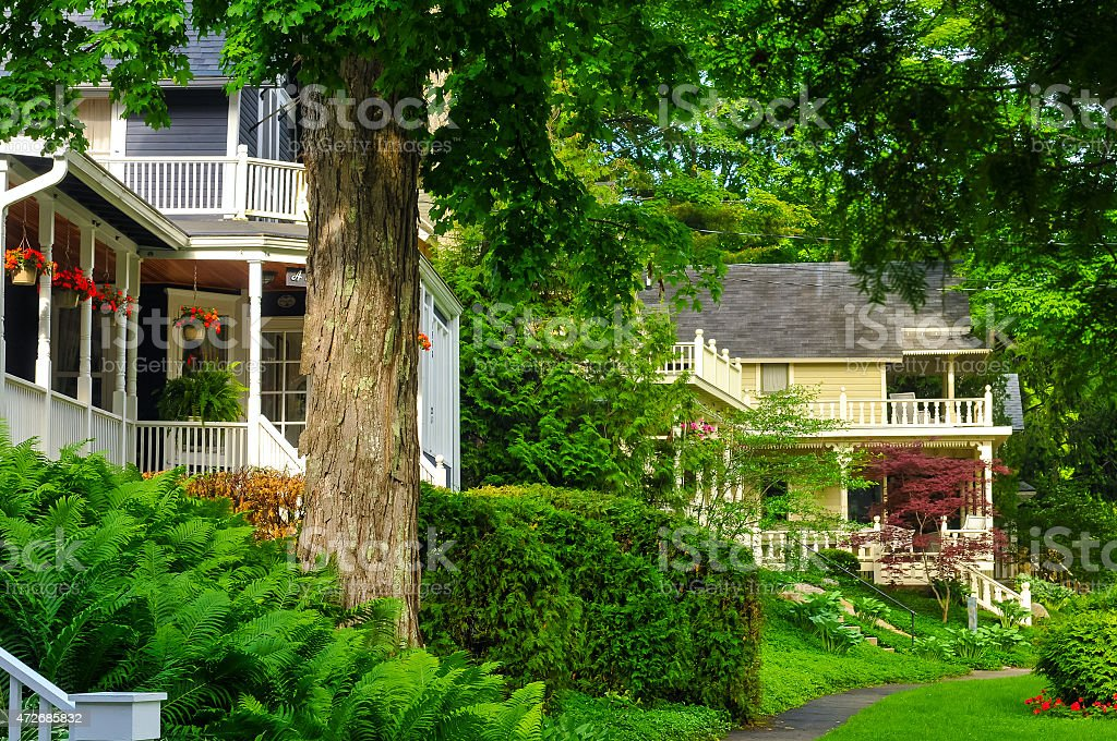 Quaint old homes stock photo