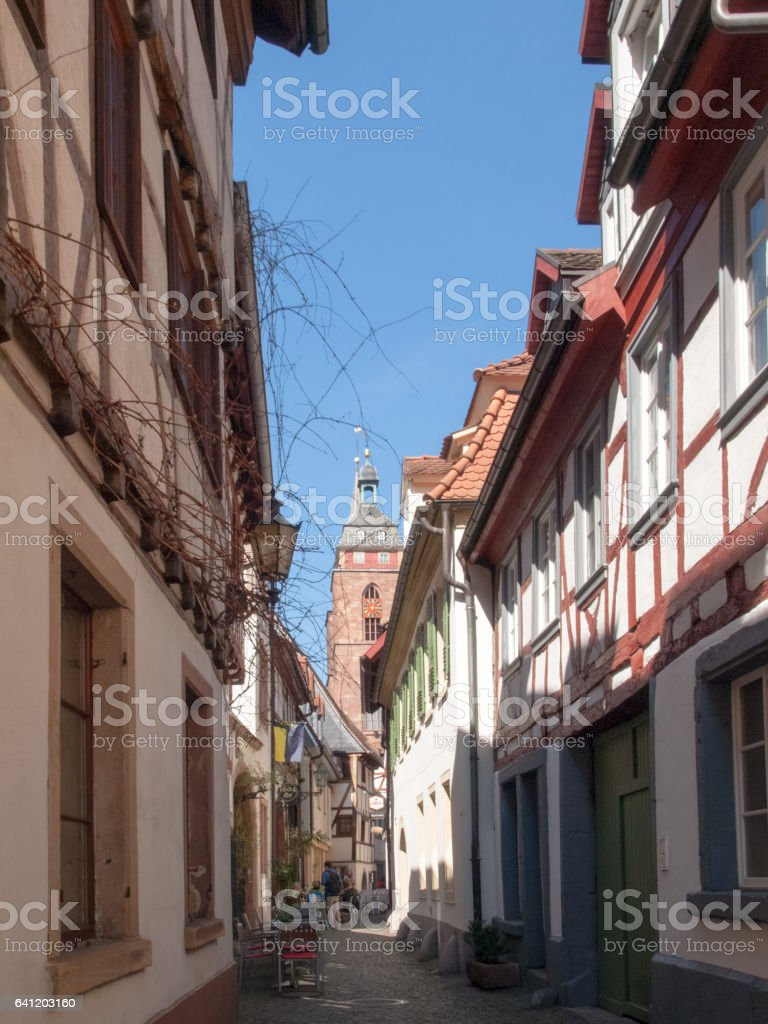 Quaint old town stock photo