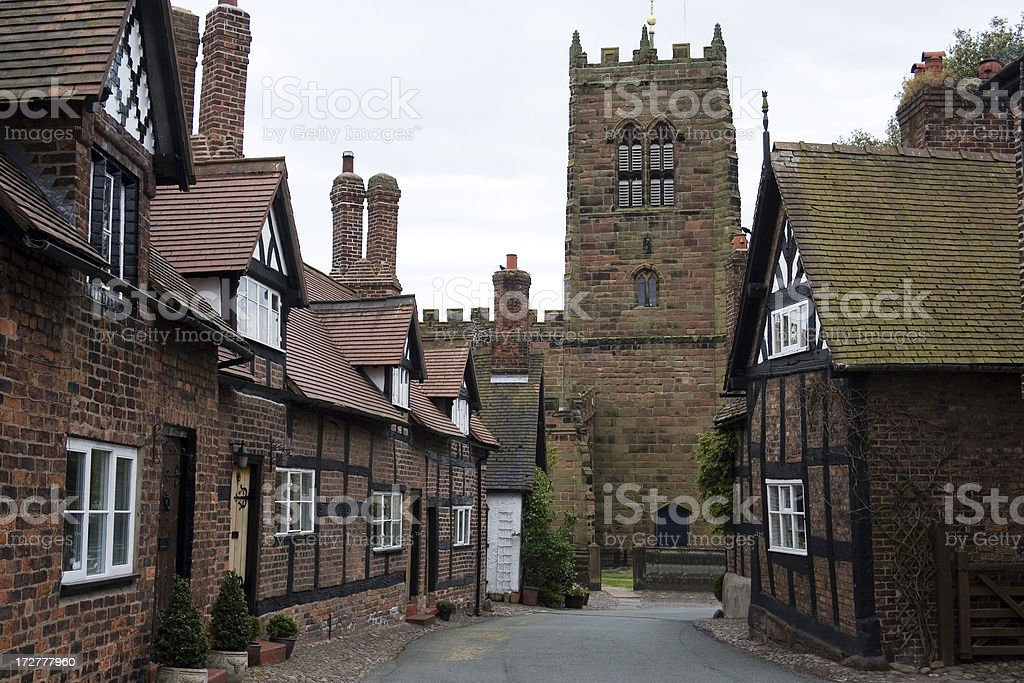 Quaint old village royalty-free stock photo