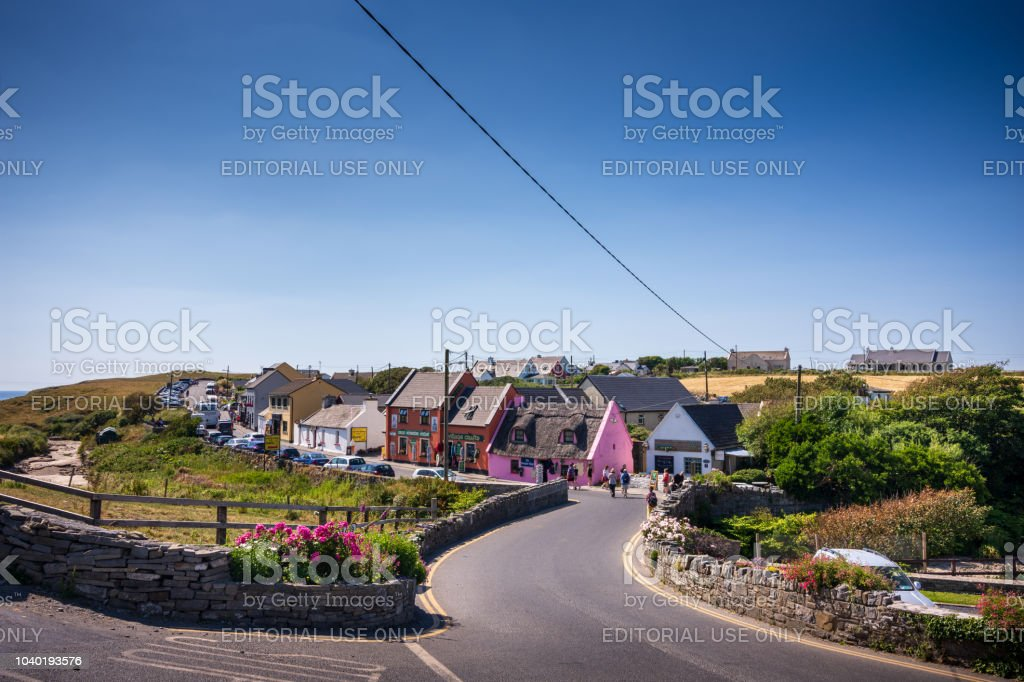 Quaint village of Doolin, Ireland in Summer stock photo