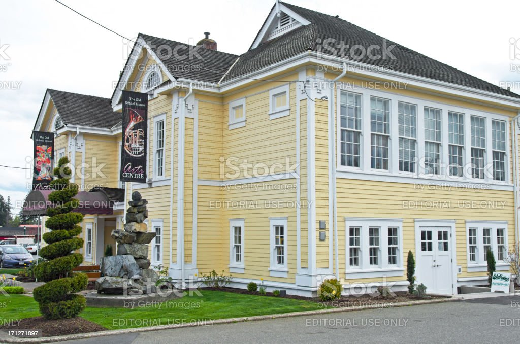 Qualicum Beach Art Center stock photo