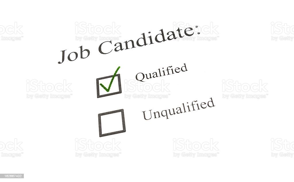 qualified candidate check royalty-free stock photo