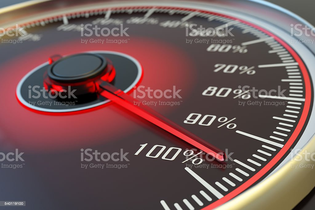 Quality and efficiency business concept, target achievement stock photo