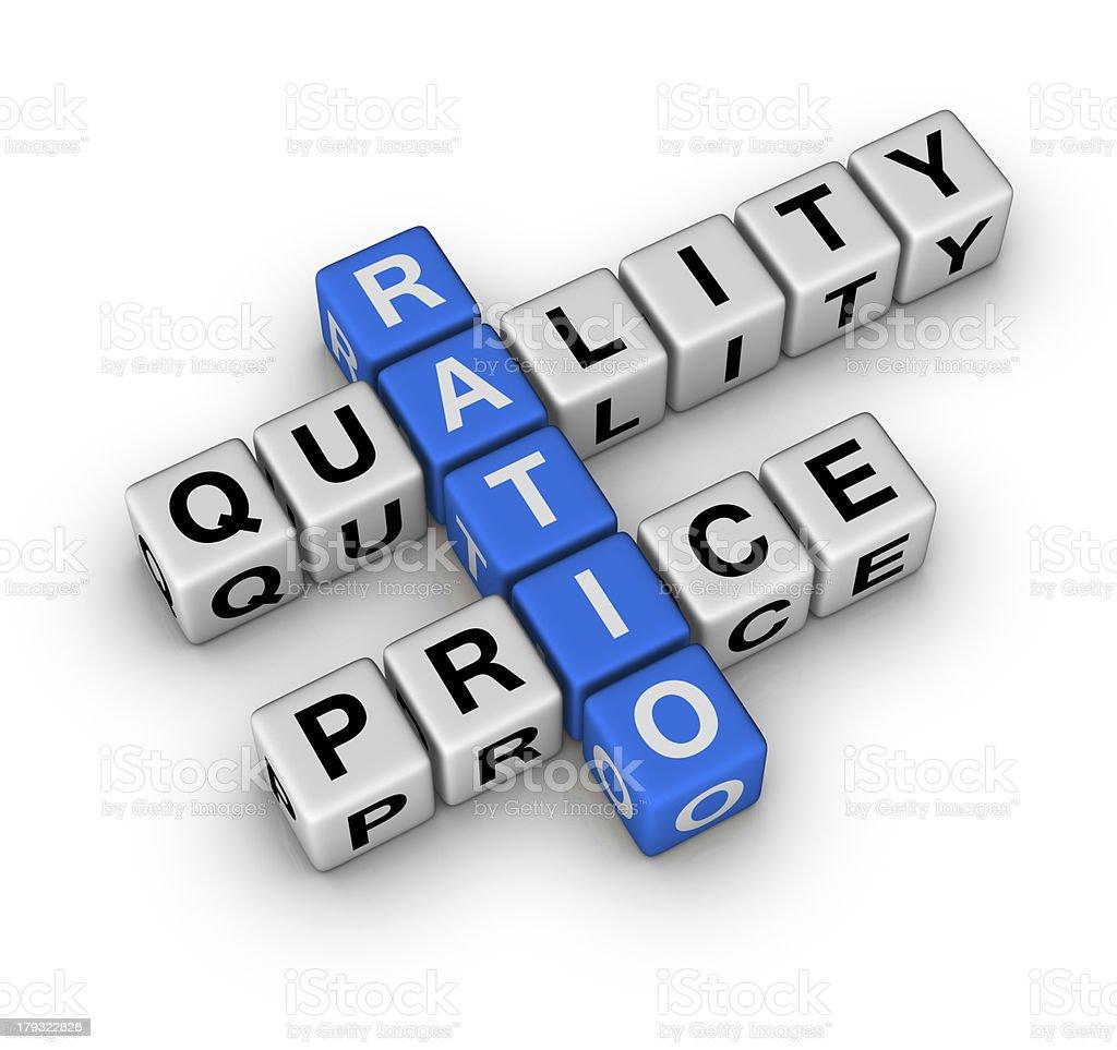 Quality and Price Ratio stock photo