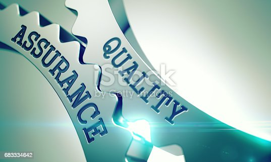 istock Quality Assurance - Mechanism of Metal Cogwheels . 3D 683334642