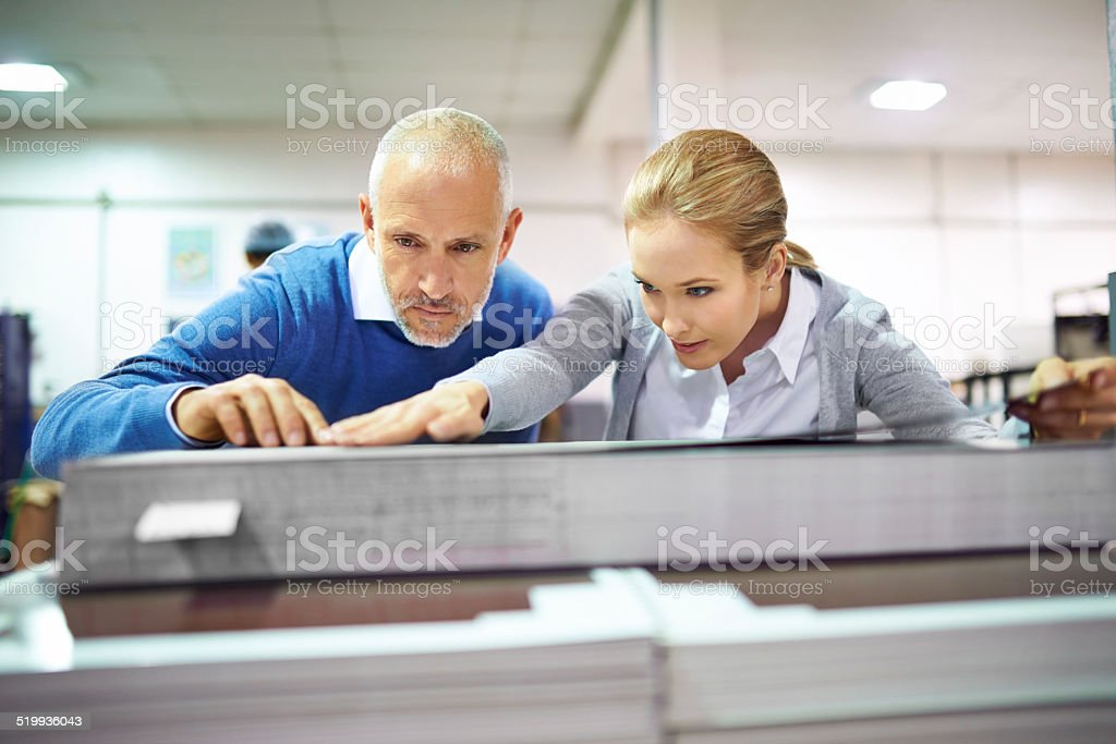 Quality assurance throughout the printing process stock photo