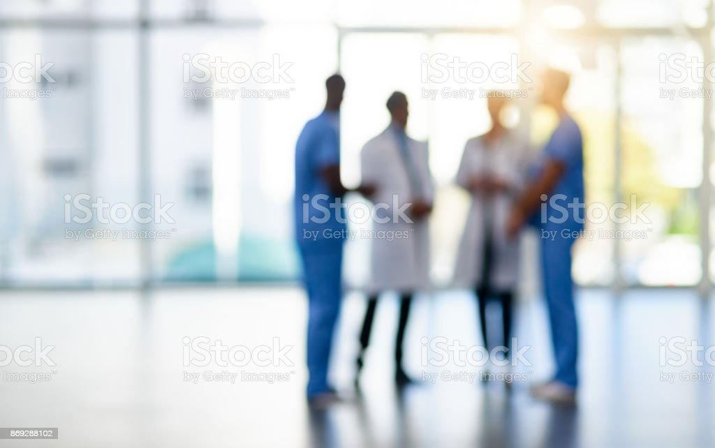 Quality care from a quality team stock photo