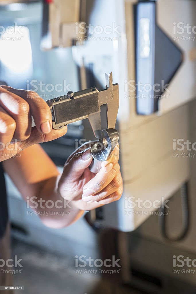 Quality control in a metal fabrication plant. royalty-free stock photo
