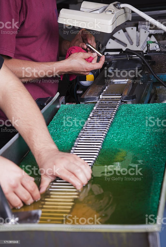 Quality control in Factory royalty-free stock photo