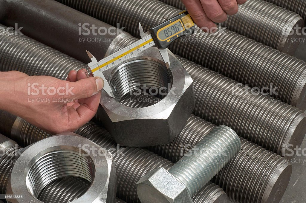 Quality control measuring of machine parts