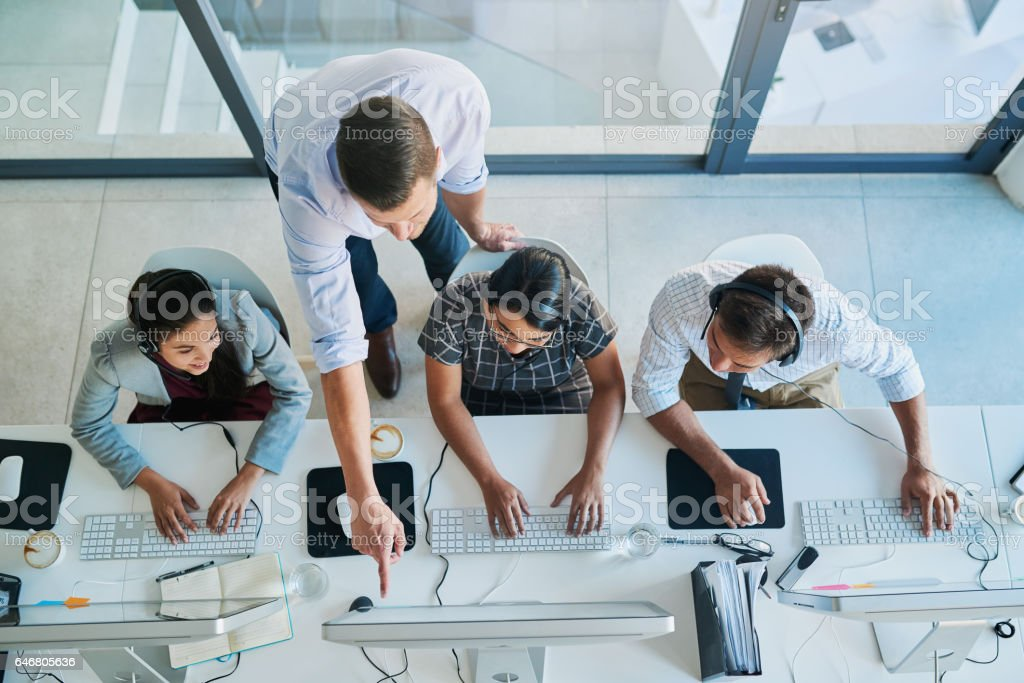 Quality customer service is a team effort stock photo