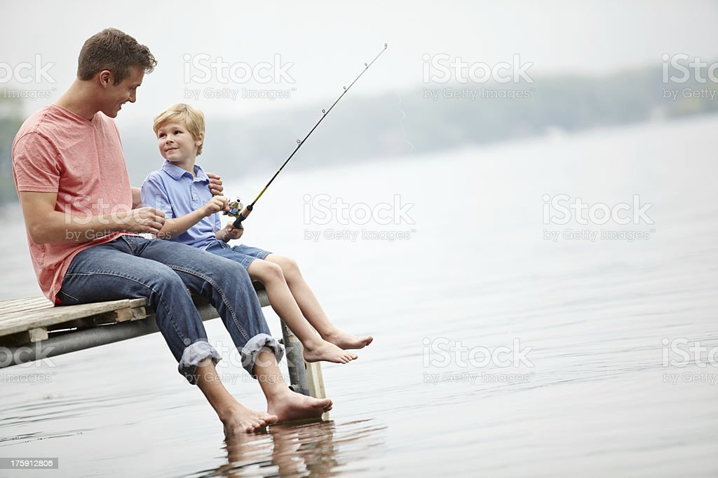 Quality father and son time stock photo
