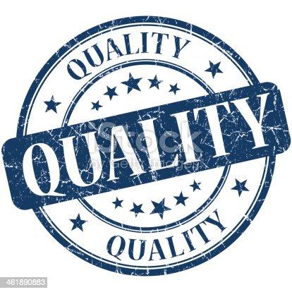 Quality grunge blue round stamp
