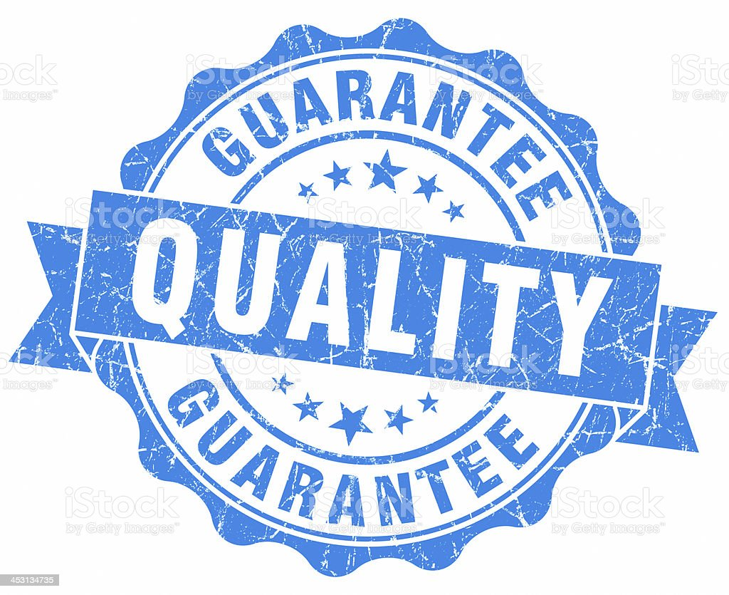 quality guarantee blue seal stock photo