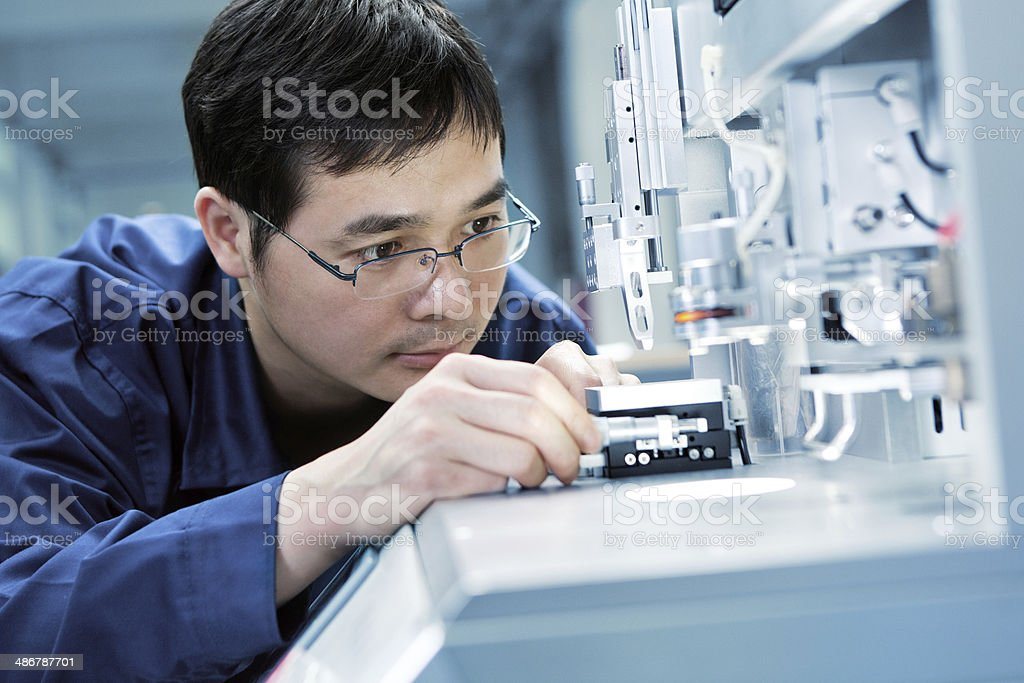 Quality inspection stock photo