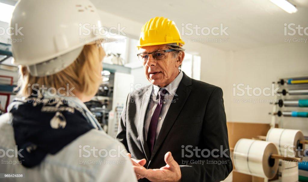 Quality inspectors team at factory zbiór zdjęć royalty-free