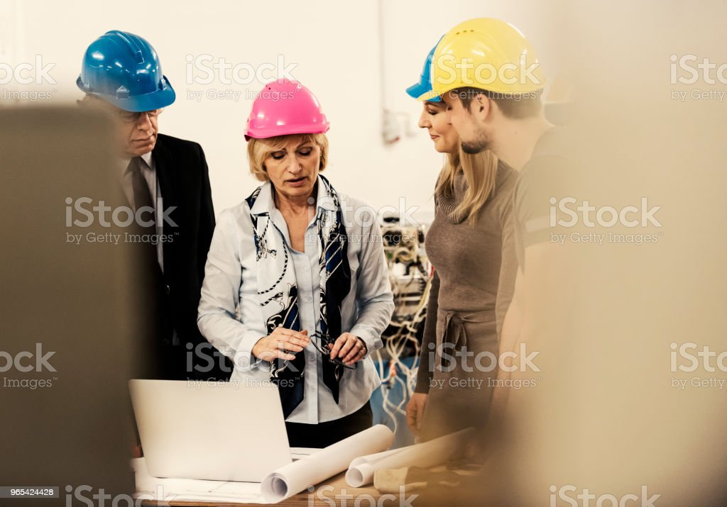Quality inspectors team royalty-free stock photo