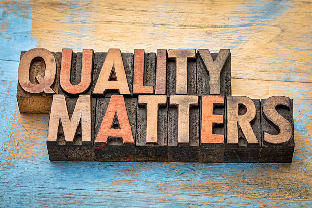 quality matters word abstract - quality stock photos and pictures