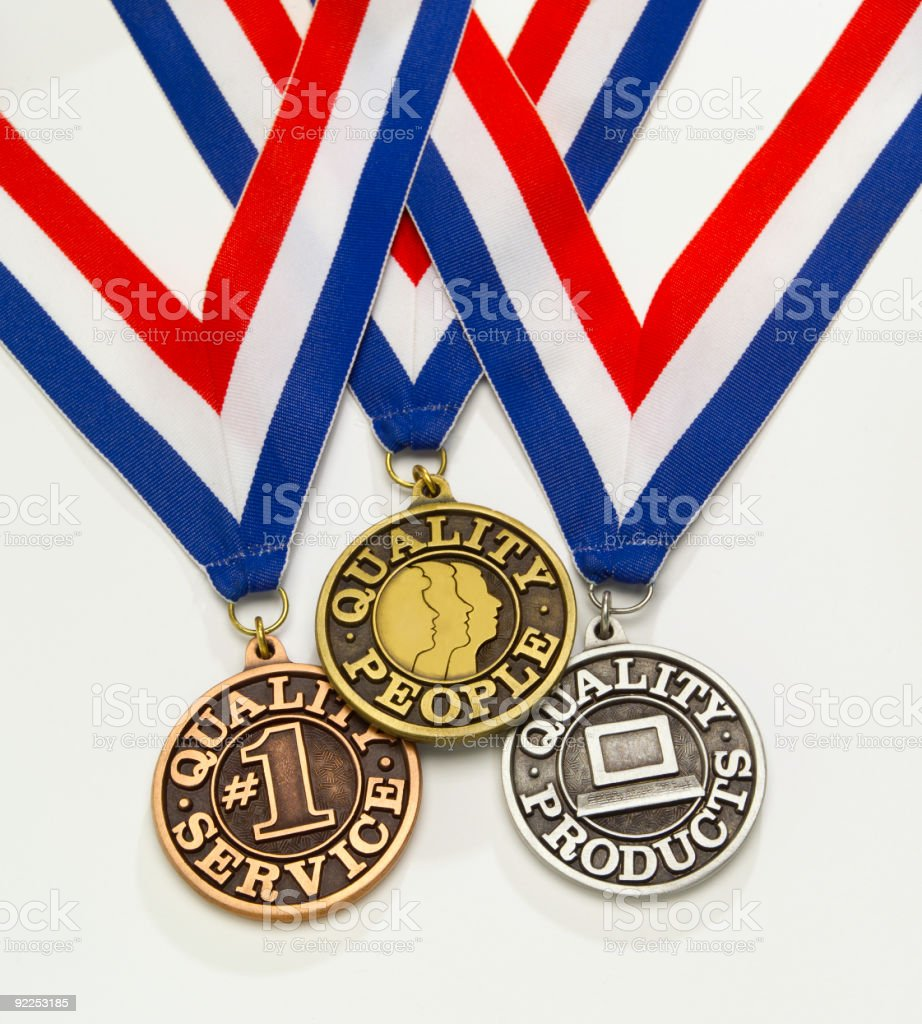 Quality medals royalty-free stock photo