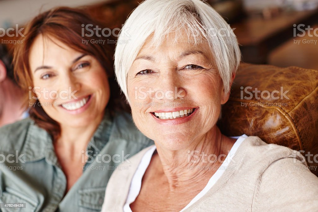 Quality mother-daughter time stock photo