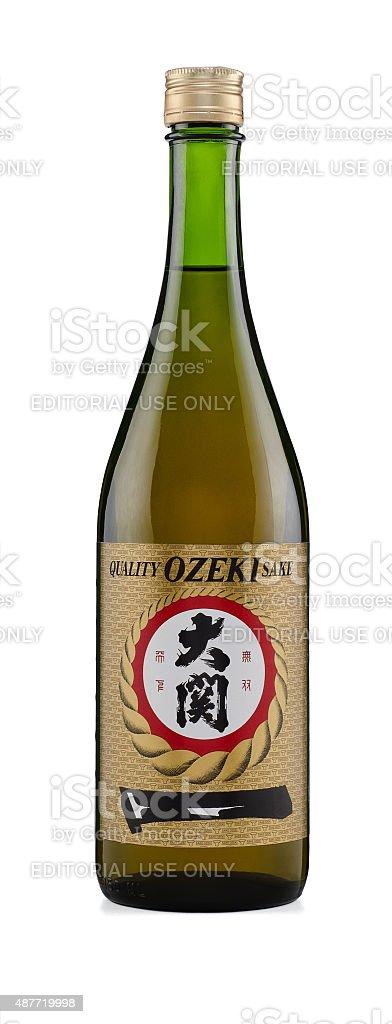 Quality Ozeki Sake stock photo