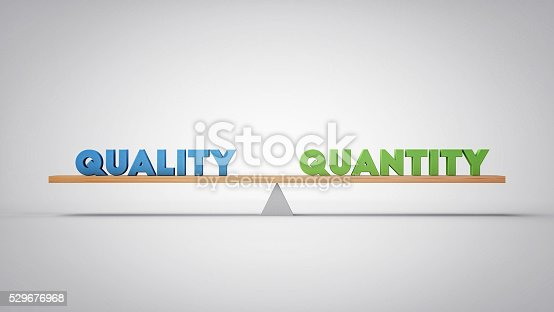 istock Quality Quantity Balance - Business Concept (3D Illustration) 529676968
