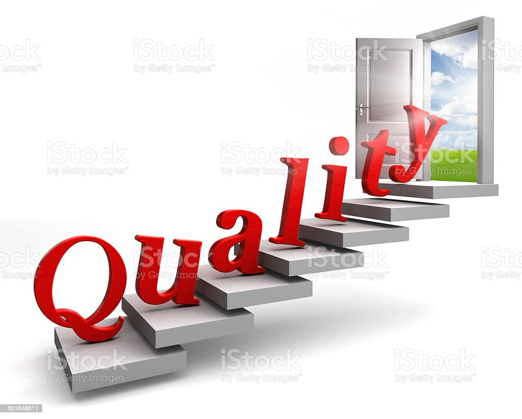 quality red word up stairs to door stock photo