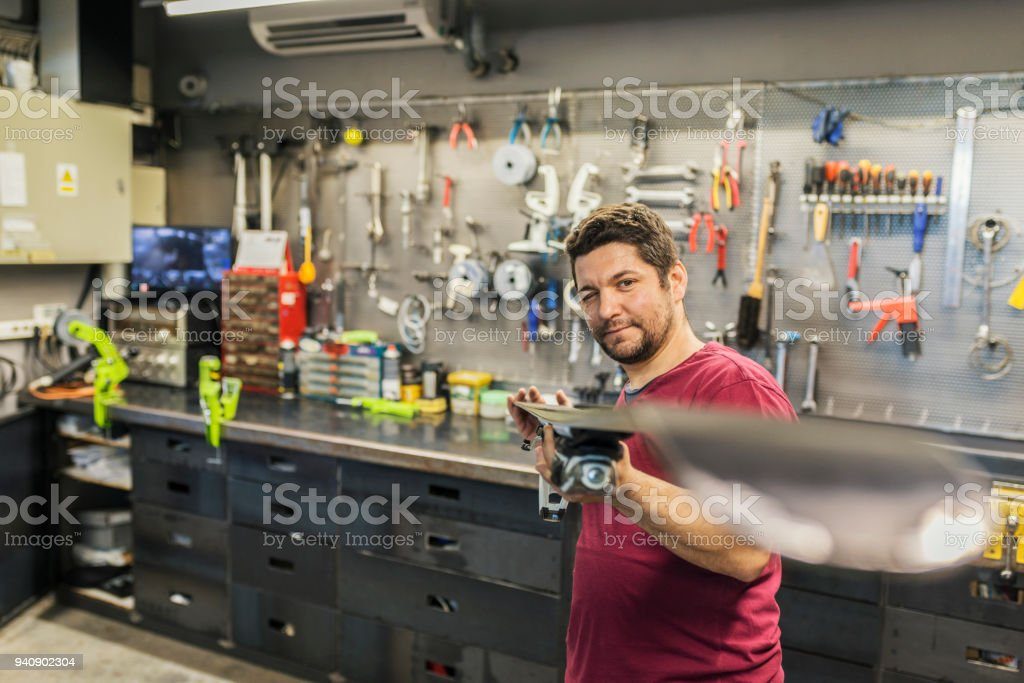 Quality service and attention to detail stock photo