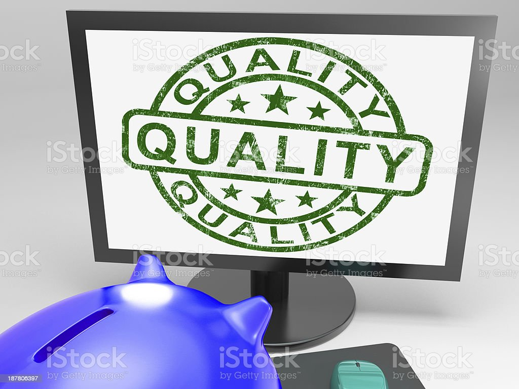 Quality Stamp Shows Approval Satisfied royalty-free stock photo