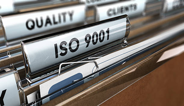 Quality Standards ISO 9001 stock photo
