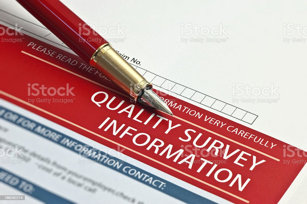 Quality Survey Information royalty-free stock photo