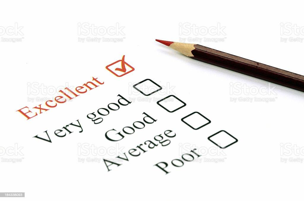 Quality survey royalty-free stock photo