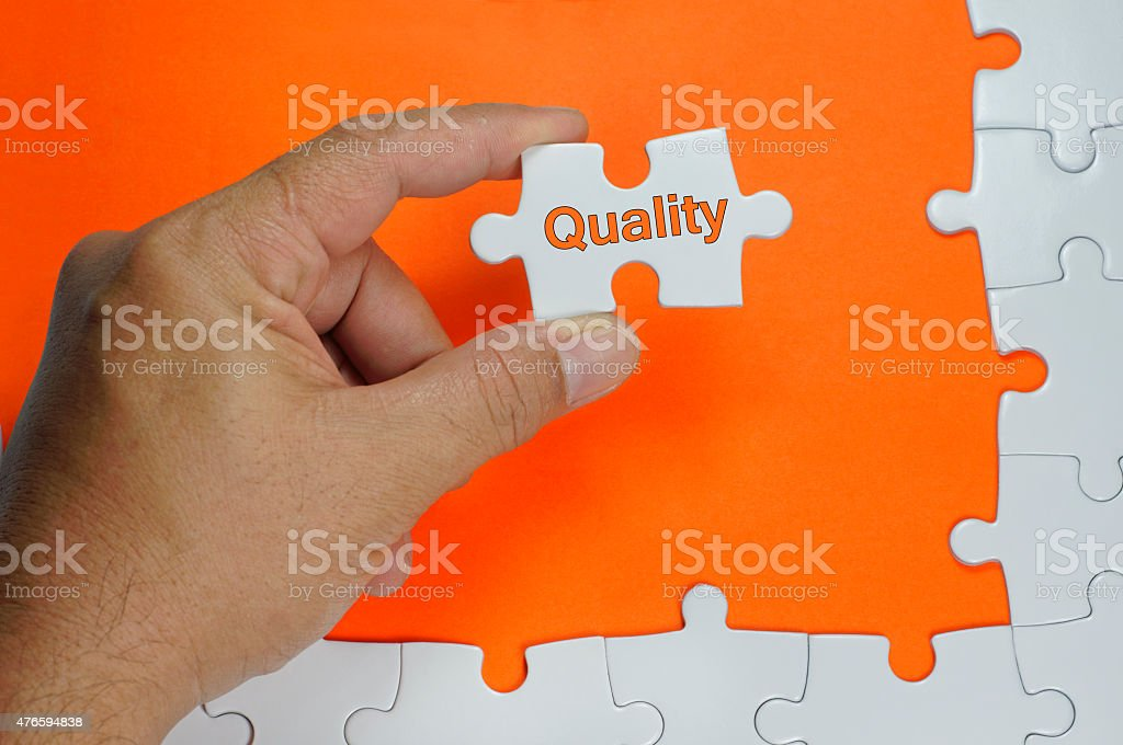 Quality Text - Business Concept stock photo