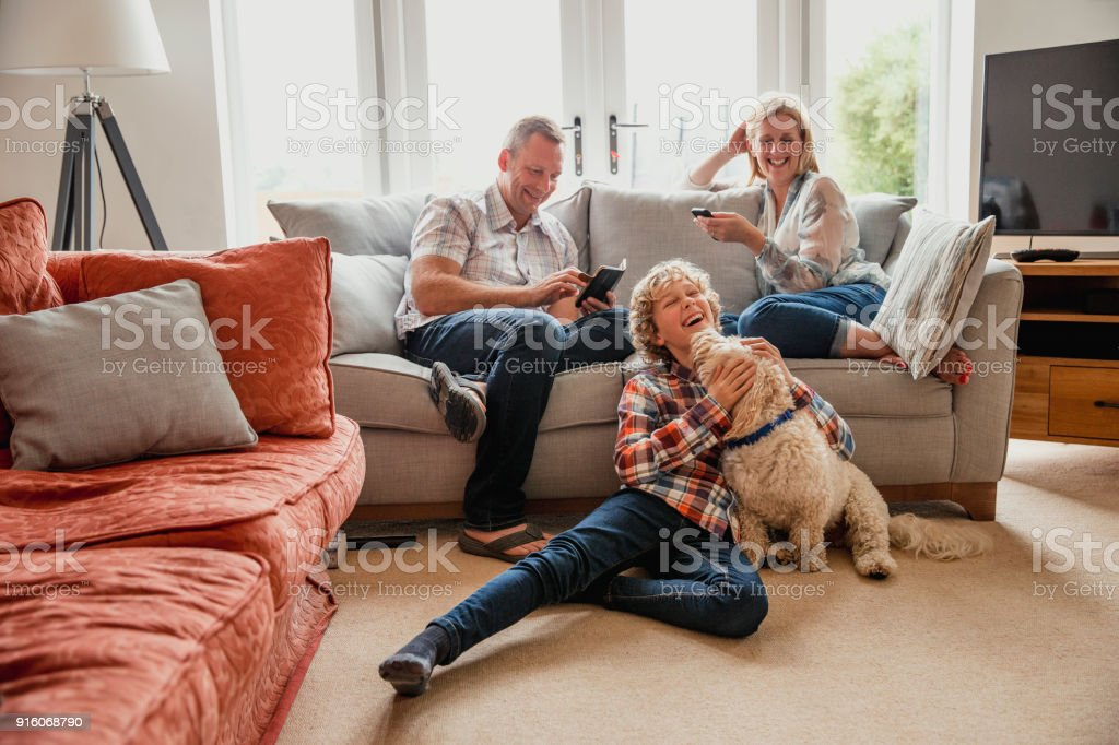 Quality Time with Family stock photo