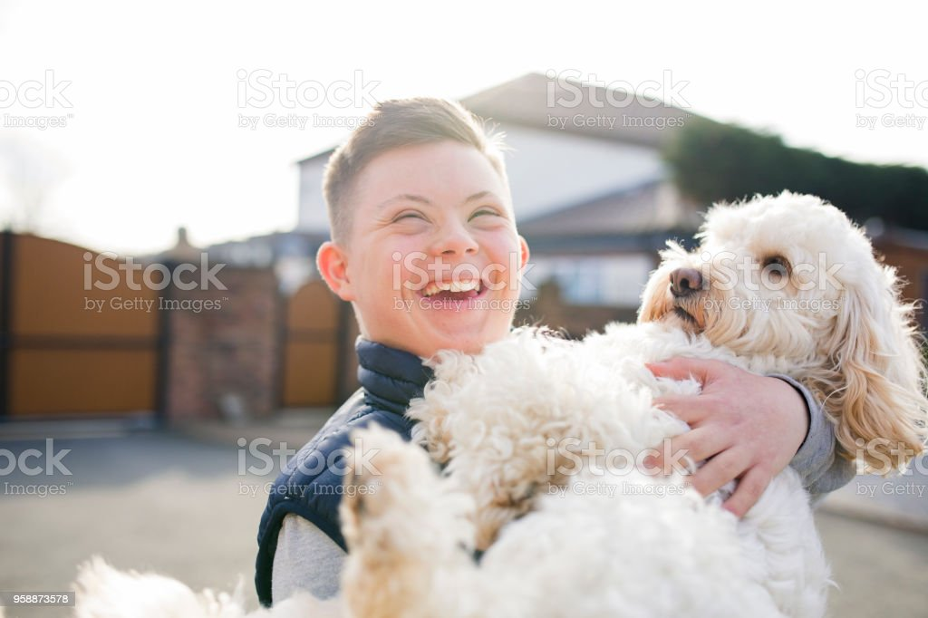 Quality Time with the Dog stock photo