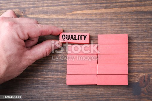 istock Quality. Work control, service, warranty and insurance concept 1189363144