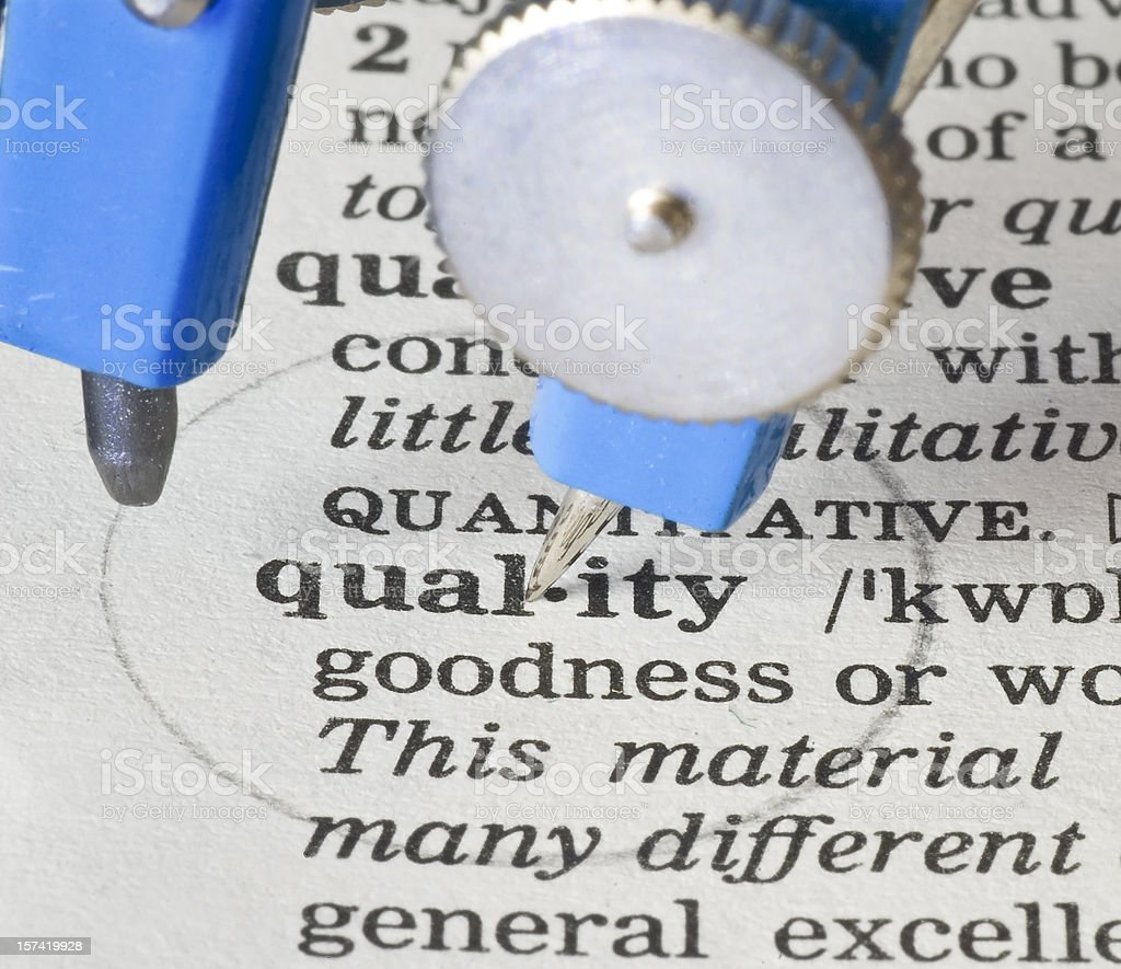 Quality-circle definition in dictionary royalty-free stock photo