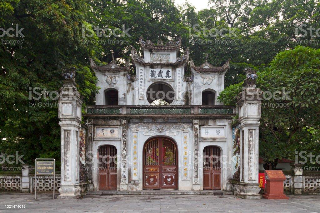 Quan Thanh Temple in Hanoi stock photo