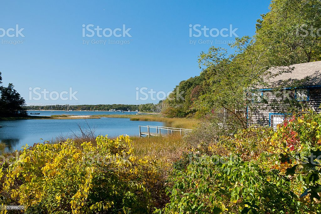 Quanset Pond stock photo