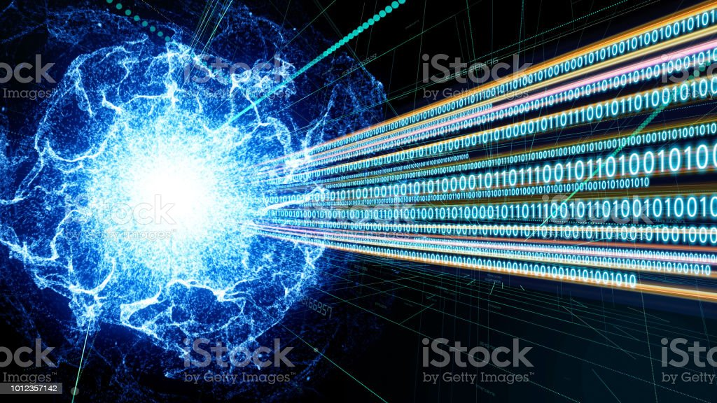Quantum computing concept. Digital communication network. Technological abstract. - Royalty-free Abstract Stock Photo
