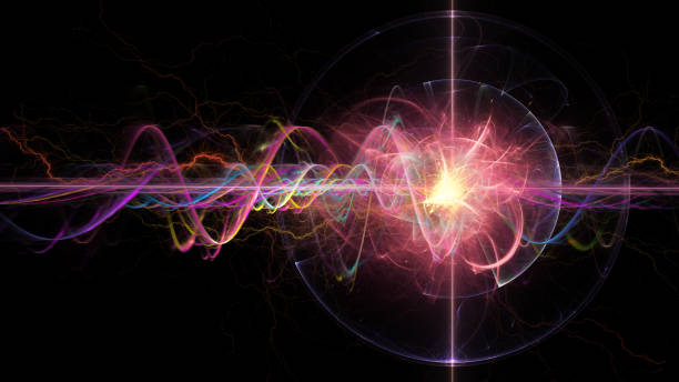 quantum wave - physics stock photos and pictures