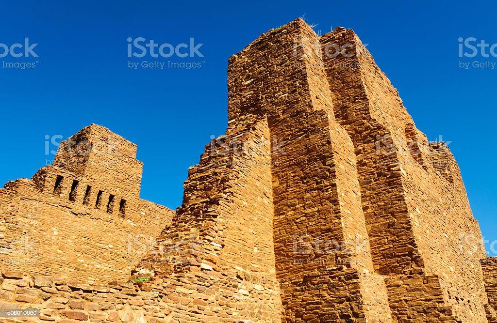 Quarai Ruins in Salinas Pueblo Missions National Monument stock photo