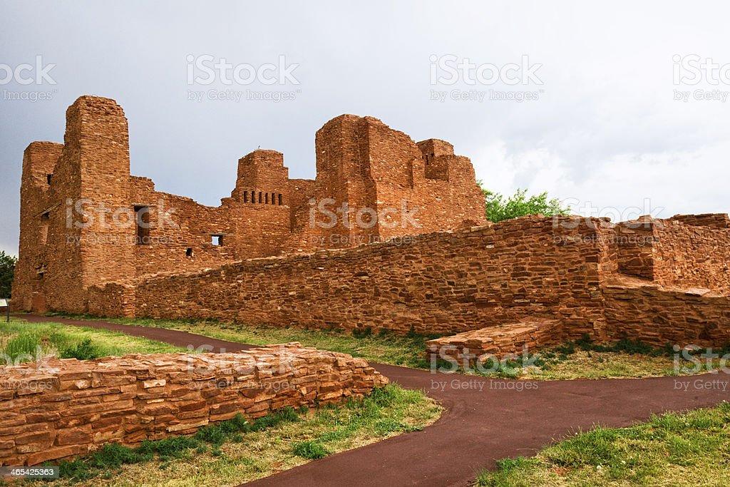 Quarai Ruins - Salinas Pueblo Missions National Monument stock photo