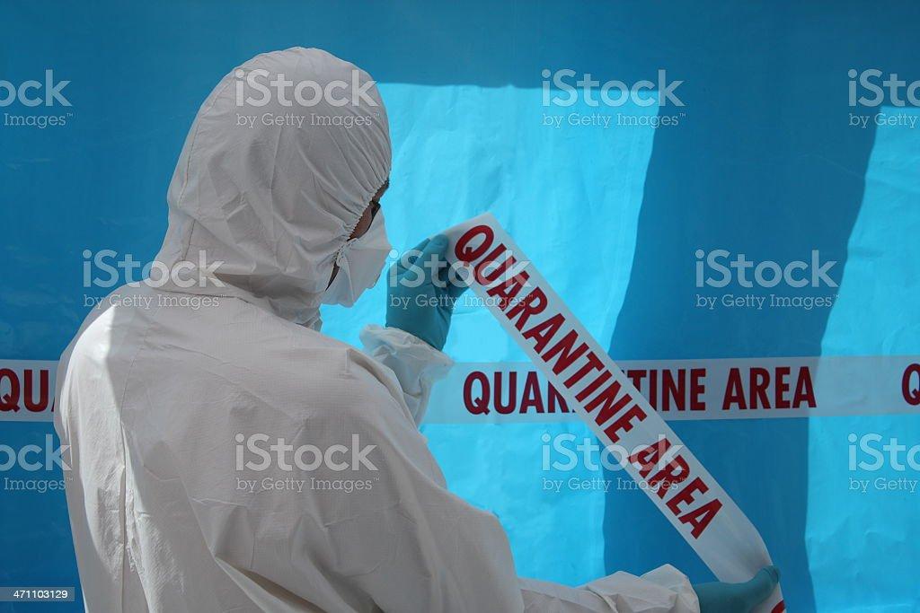 Quarantine Area royalty-free stock photo