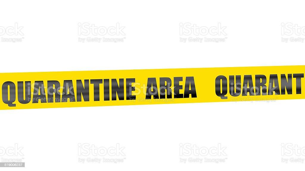 Quarantine area yellow tape stock photo