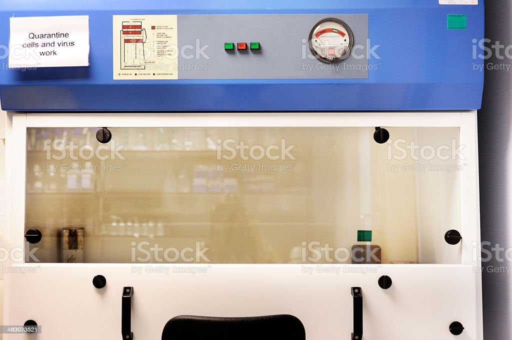 Quarantine cells and virus work stock photo