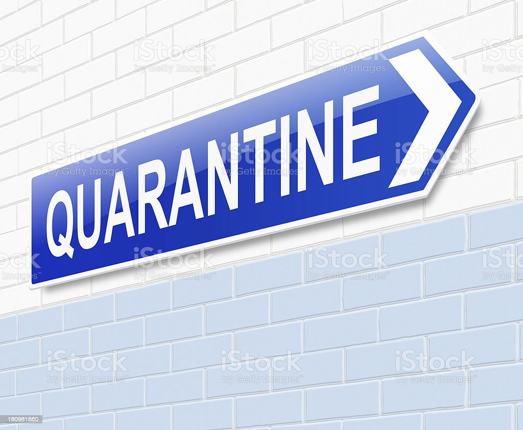 Quarantine concept. stock photo