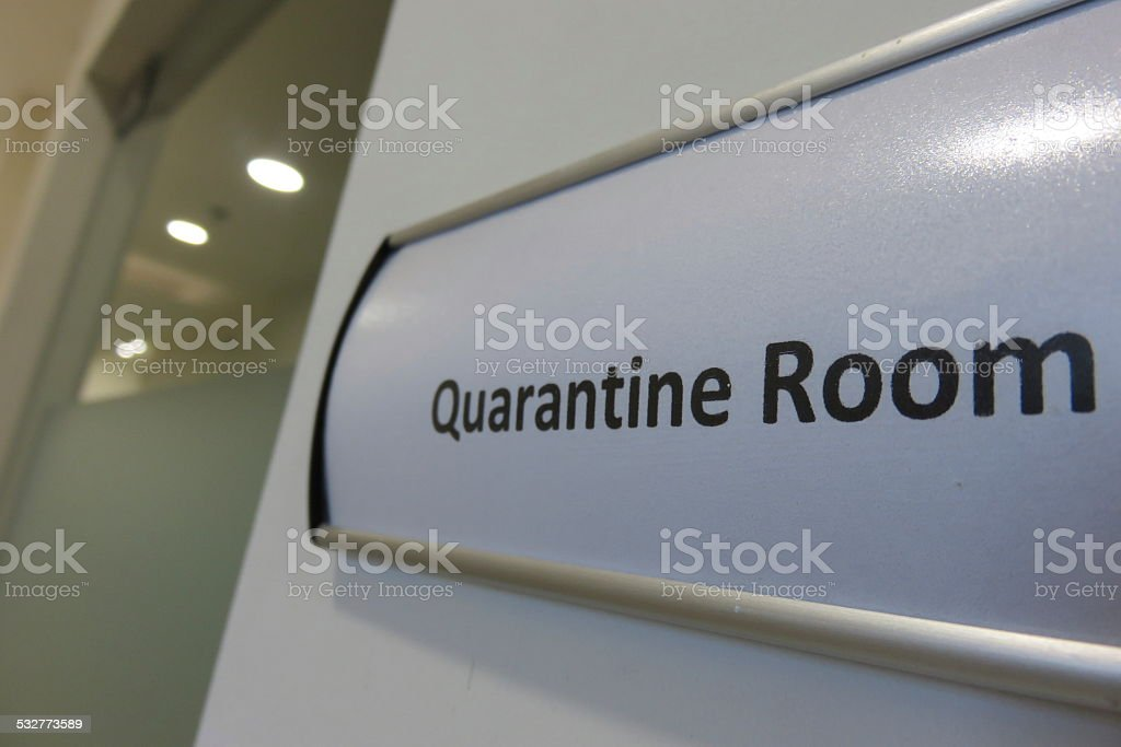 Quarantine room stock photo
